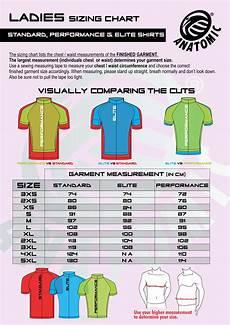 Anatomic Chart Sizing Charts Anatomic Sportswear