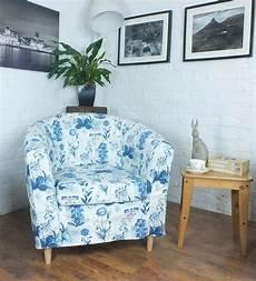 ikea tullsta tub chair cover in beautiful cobalt