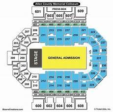 Memorial Chart Allen County War Memorial Coliseum Seating Chart Seating