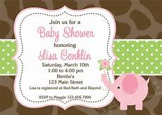 Baby Shower Invite Backgrounds Couples Baby Shower Invitations Pink And Gray Elephant