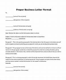 Correct Format For A Business Letter Free 7 Business Letter Samples In Pdf Ms Word