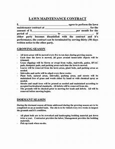 Free Landscaping Contract Forms Landscape Maintenance Contract Template Sampletemplatess