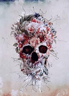floral skull iphone wallpaper floral skull rpe skull wallart digitalart collage