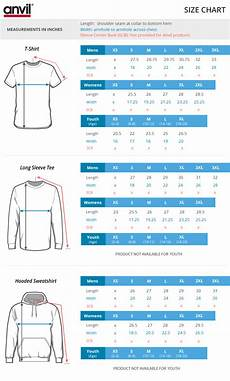 Anvil T Shirts Size Chart Anvil 980 Ringspun Fashion Fit Custom T Shirt