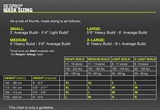 Respirator Mask Size Chart Respro Allergy Mask Aero Mask Face Mask Mcs Mask