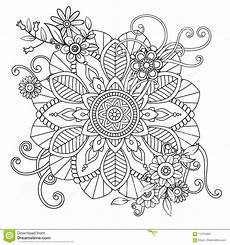 Blumen Malvorlagen Xl Mandala Pattern Florale Illustration De Vecteur