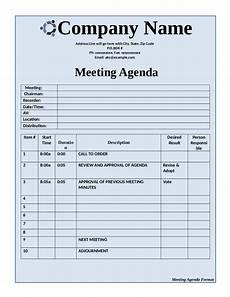 Agenda Of Meeting Sample Format Template For Meeting Agenda Edit Fill Sign Online