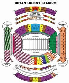Bryant Denny Stadium Seating Chart With Seat Numbers Bryant Denny Seating Chart Bryant Denny Stadium Seating