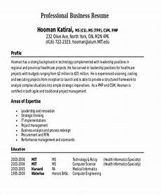 Example Of Business Resume 35 Free Business Resume Templates Pdf Doc Free