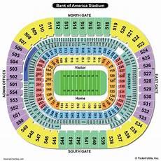 America Seating Chart Bank Of America Stadium Seating Chart Seating Charts