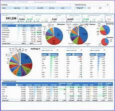 Excel Portfolio Analysis 6 Stock Analysis Excel Template Excel Templates Excel