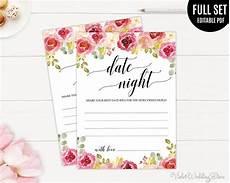 Date Night Card Templates Burgundy Date Night Card Template Printable Date Night