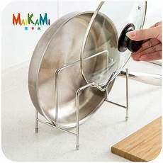 cabinet pan pot cover lid rack stand stove organizer
