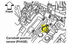 2008 nissan altima crankshaft position sensor location where is the camshaft position sensor located at in 2005
