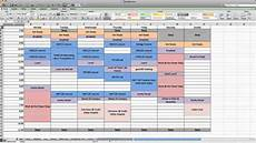 How To Create A Work Schedule On Excel A One Series Production How To Make A Weekly Calendar