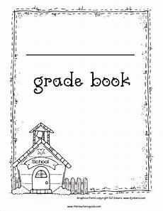 Gradebook Cover Free Printable Grade Books