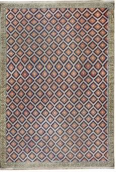 oversized indian dhurrie blue cool violet rug
