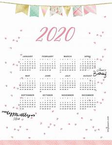 Year Calendar 2020 Printable Free Printable 2020 Yearly Calendar At A Glance 101