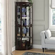 darby home co blakeway lighted corner curio cabinet