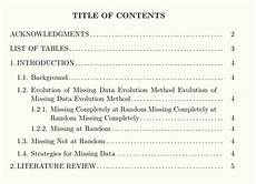 Apa Style Table Of Contents Customized Table Of Contents Apa Style Tex Stack