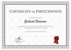 Free Certificates Of Participation Training Participation Certificate Design Template In Psd