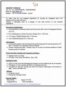 Curriculum Vitae Samples For Freshers 100 Resume Format For Experienced Sample Template Of A
