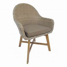 find mimosa timber and resin wicker corsica arm chair at