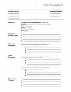 A Blank Resume Fill In The Blank Resume Pdf Http Www Resumecareer