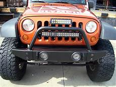 Jeep Grill With Lights Olympic 4x4 Products Jeep Bull Bar L Bumper Light Bar