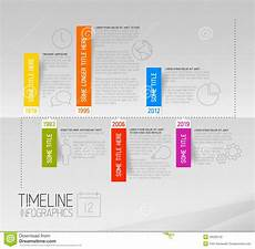 Horizontal Timeline Template Horizontal Infographic Timeline Report Template With