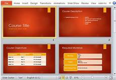 Academic Presentation Template Academic Course Overview Powerpoint Template