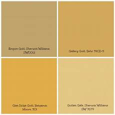 Shades Of Gold Color Chart Decorating With Gold Gold Paint Colors Wall Paint