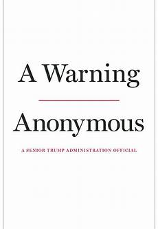 Anonymous Author Book Review In A Warning Anonymous Author Makes Case