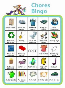 Chore Chart For 6 Year Old Free Printable Chores Bingo Chores For Kids By Age