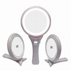 Hand Mirror With Lights Unique Design Vanity Handheld Cosmetic Mirror Salon
