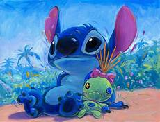 hanging with scrump stitch from lilo and stitch giclee by