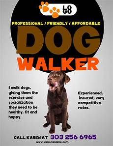 Dog Walker Flyers Dog Walkers Flyer Template Postermywall