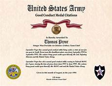 Army Certificates Of Training Individual Award Certificate Military Training Unit Awards