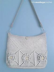 wildflower shoulder crochet bag allfreecrochet