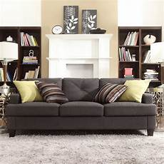 Sectional Sofa Grey 3d Image by Inspire Q Upholstered Tufted Sofa Gray Sofas