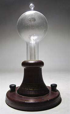 Thomas Edison Light Bulb Vintage Portable 1880 Thomas Edison Lamp Replica Light
