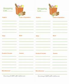Shopping Checklists Free Printable Shopping Lists To Print