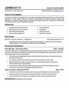 Retail Sales Manager Resume Samples Retail Manager Resume Example Department Store