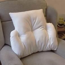 cradle lumbar back support velour fleece cushion comfort