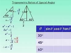 Trigonometry Ratios Trig Ratios Of Special Angles Part 1 Youtube