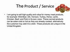 Product Service Plan Mp Canned Food Business Plan Presentation