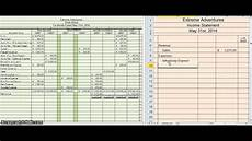 Create An Income Statement Creating An Income Statement Youtube