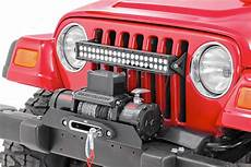 Jeep Grill With Lights 20in Dual Row Single Row Led Light Bar Grille Mounts For