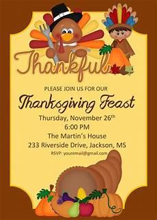Thanksgiving Party Invitations Thanksgiving Feast Invitation Thanksgiving Party Invite
