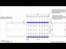 Cover Plate Design Example Steel Beam Bolted Plate Splice Connection Detail Drawing